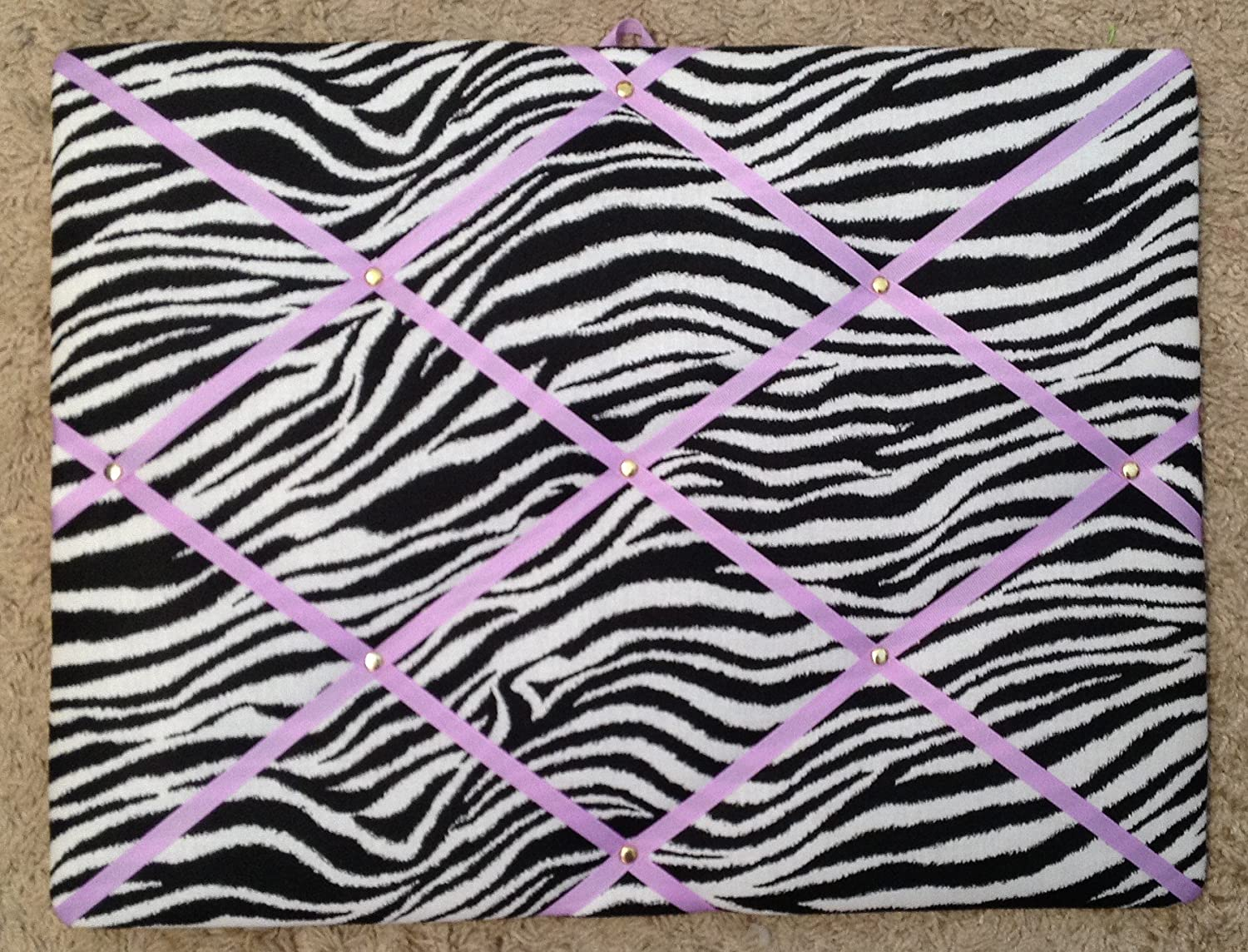 Zebra with Light Orchid Ribbon French/memo Board Toycatz Creations