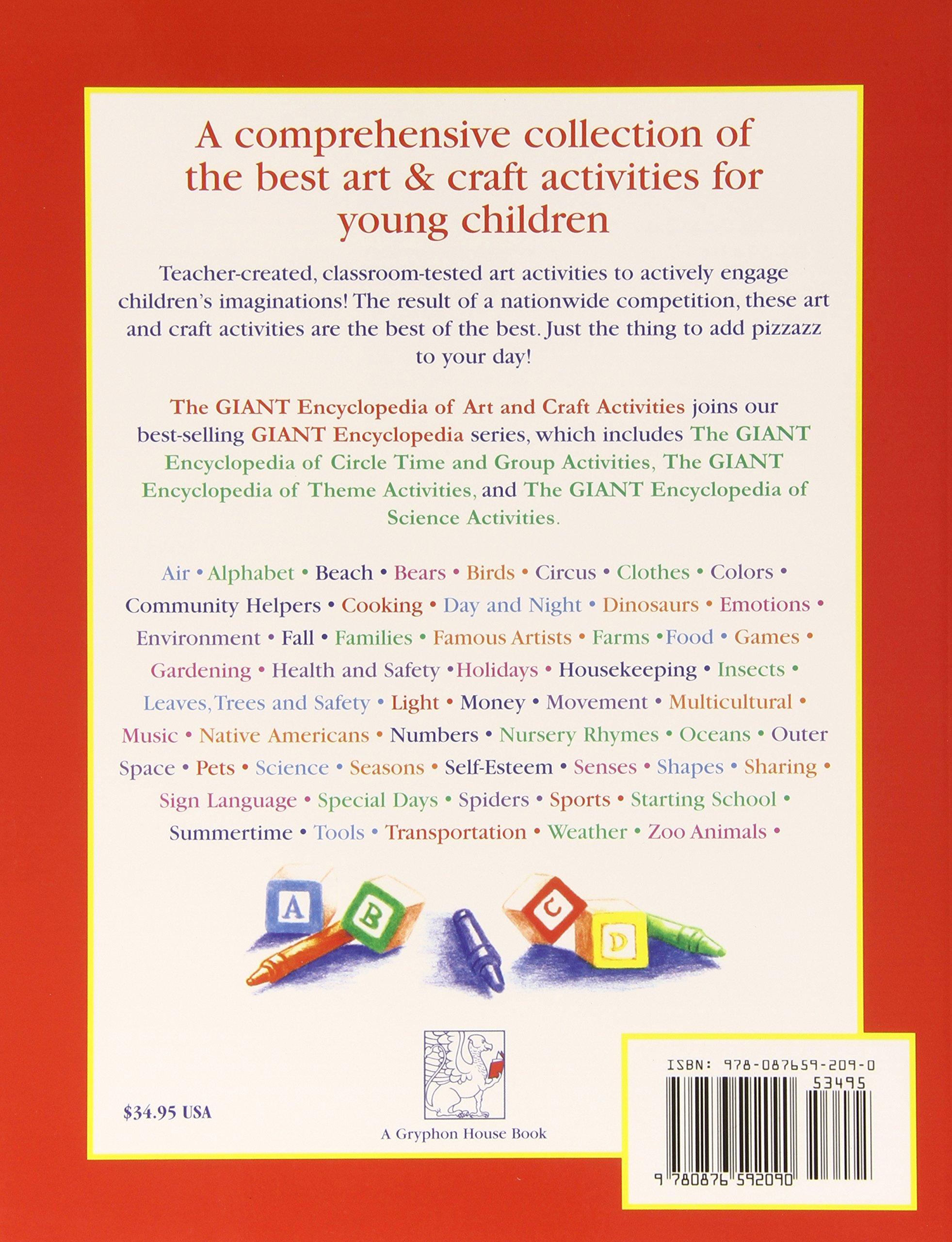 amazon com the giant encyclopedia of art u0026 craft activities for