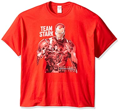 5dd54a27fa7c Amazon.com: Marvel Men's Avengers Civil War Team Stark T-Shirt: Clothing