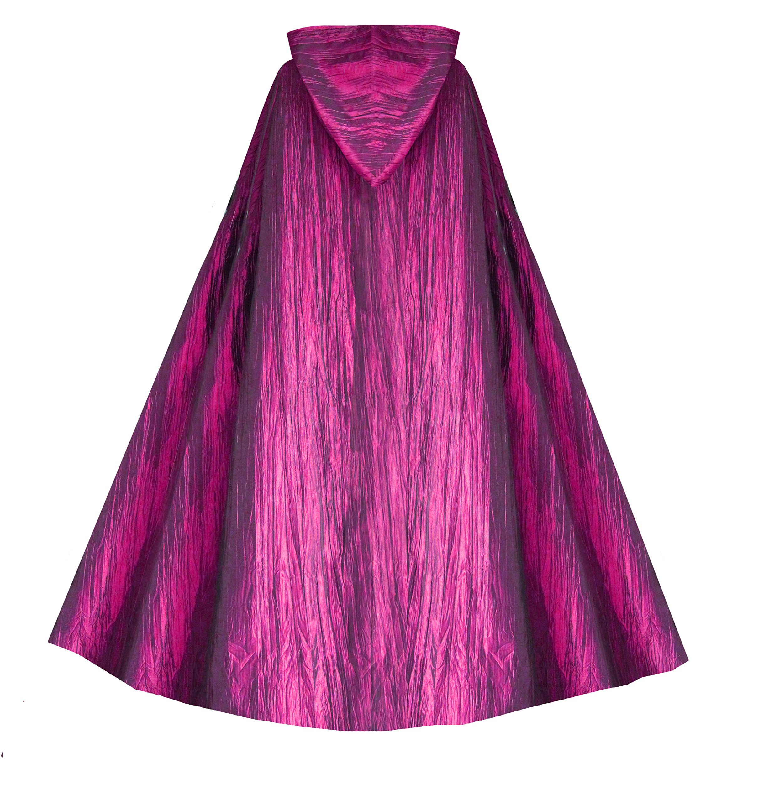 Cykxtees Historical Gothic Steampunk Victorian Hooded Renaissance Short Capelet Cloak 4