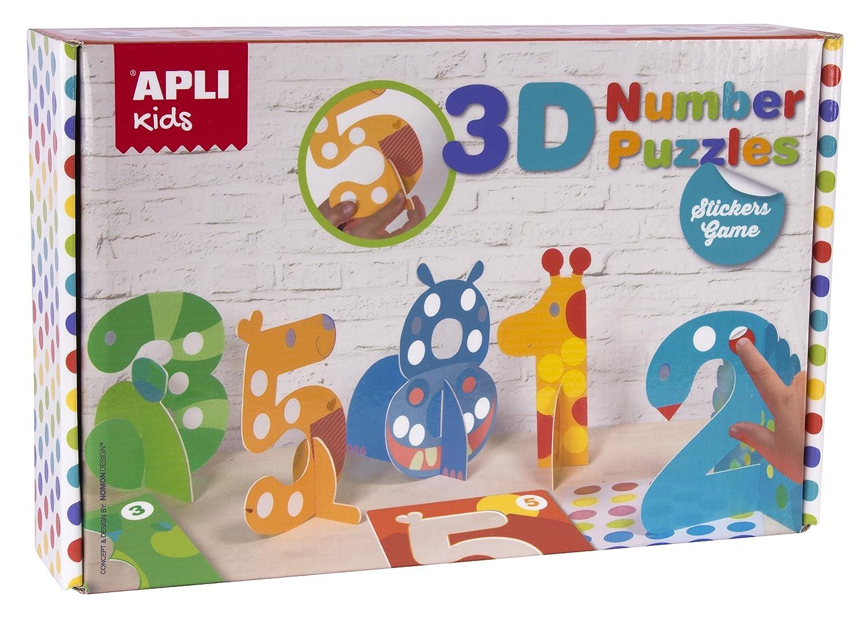 Juego de gomets Apli Puzzle 3D números Apli14591