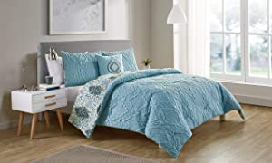 VCNY Home Luanna Comforter Set, Bedding, Full/Queen, Light Blue