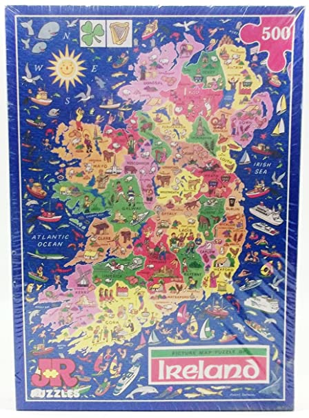 Ireland Map Jigsaw Puzzle by James Hamilton Grovely Amazoncouk
