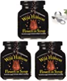 Wild Hibiscus Flowers in Syrup - 8.8 oz 3 Pack (3)