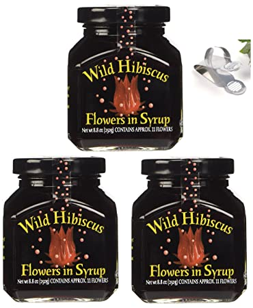 Amazoncom Wild Hibiscus Flowers In Syrup 88 Oz 3 Pack 3