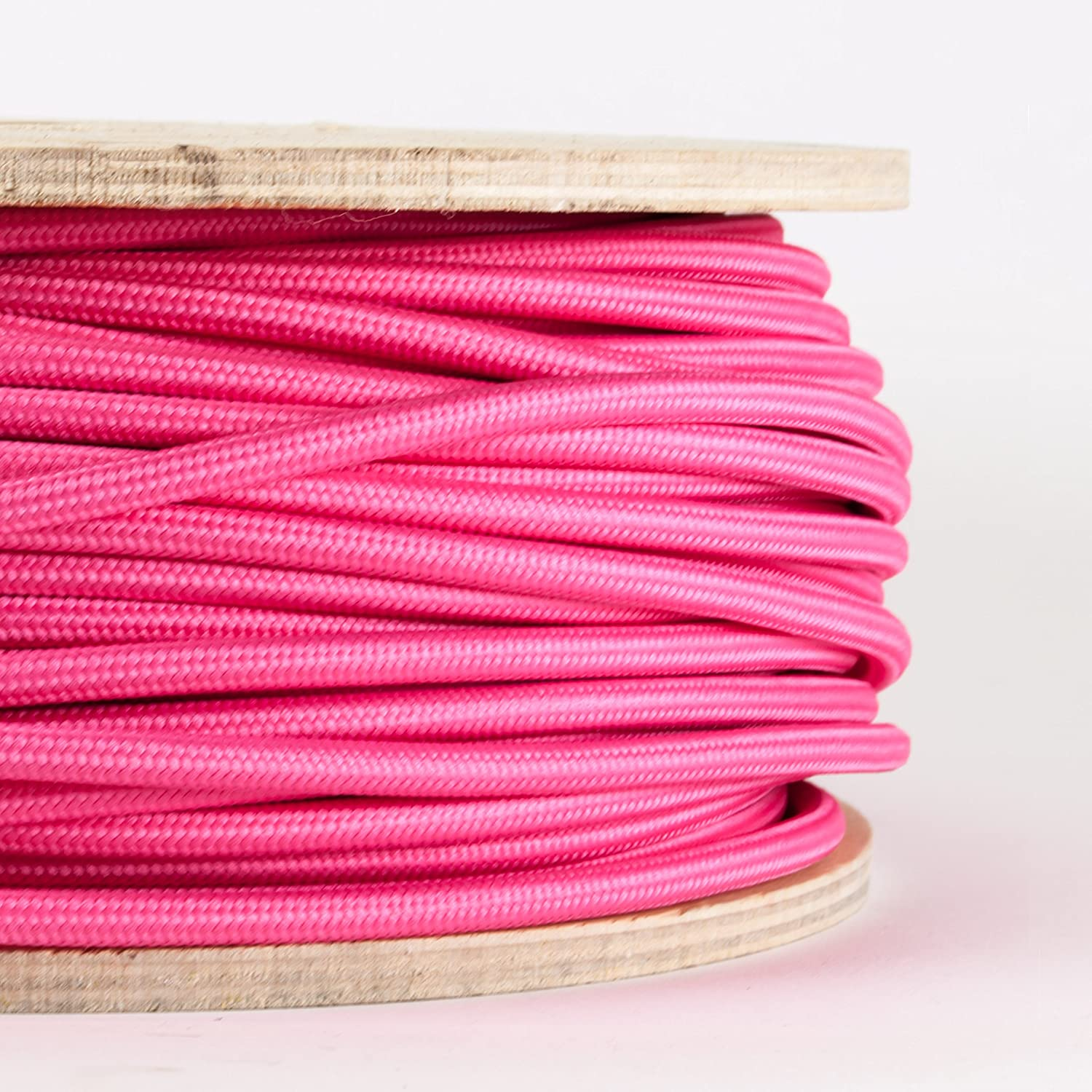 FABRIC CABLE | Burgundy | Made in Italy | Price per metre | Dowsing and Reynolds Dowsing & Reynolds burgundy-fabric