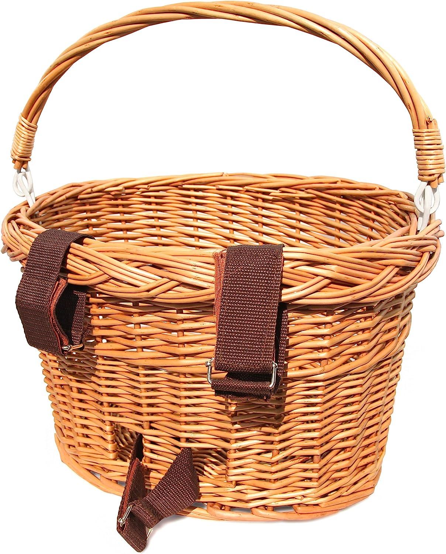Colorbasket 01570 Adult Front Handlebar Wicker Bike Basket White