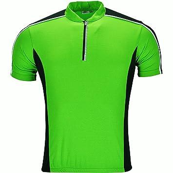 bed795622 New Mens Cycling Jersey Short Sleeve Shirt Bike Tops Riding Breathable High  Viz Wicking Rear Pockets