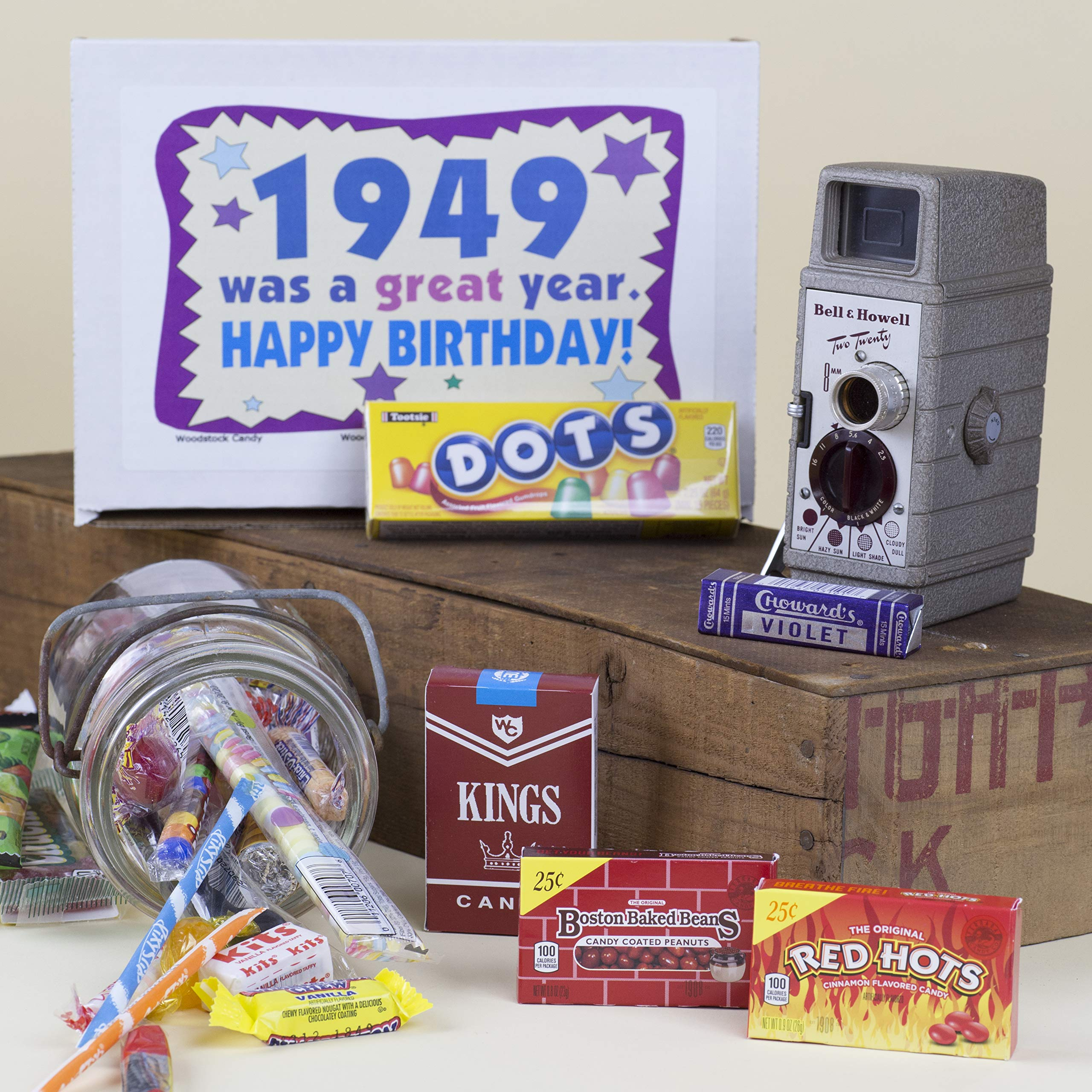 Woodstock Candy ~ 70th Birthday Gift Box of Retro Vintage Candy Assortment from Childhood for 70 Year Old Men and Women Born 1949 - Great Idea for Mom or Dad - Jr by Woodstock Candy (Image #3)