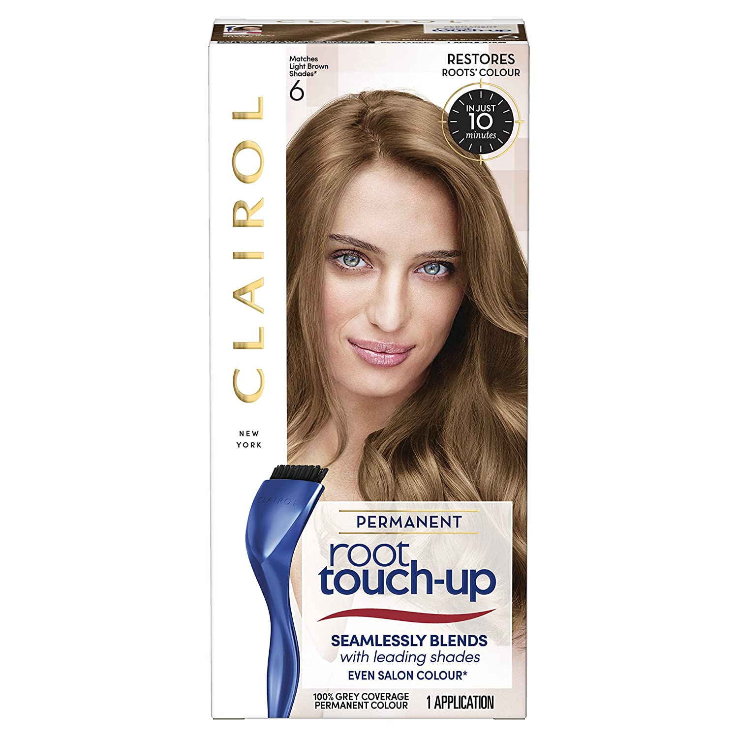 Clairol Root touch Up Hair Coloring, numero 6, marrone chiaro Coty 81644647