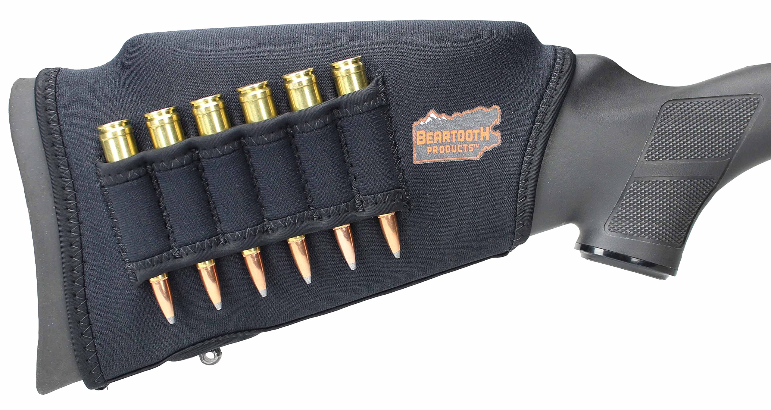 Beartooth Comb Raising Kit 2.0 - Neoprene Gun Stock Sleeve + (5) Hi-density Foam Inserts - RIFLE MODEL (Black) by Beartooth Products