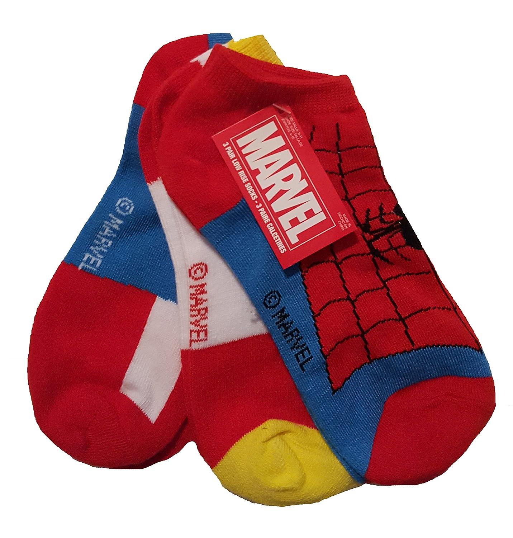 Amazon.com: Marvel Comics Spider-Man Falcon Captain America Avengers 3 Pair Low Rise Socks: Clothing