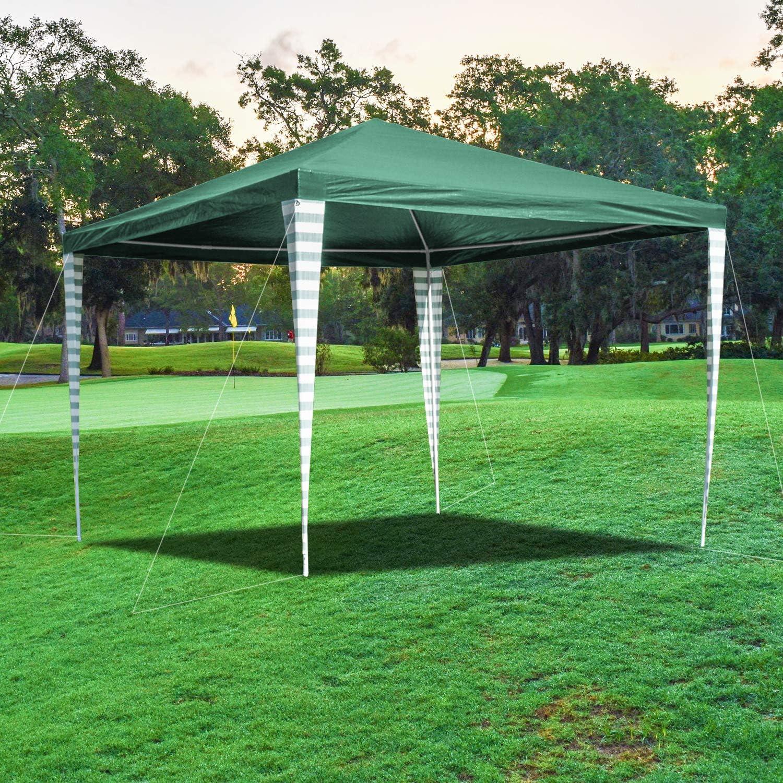 Hengda - Cenador de jardín (3 x 3 m) - Toldo para Fiestas de protección UV - Tienda de campaña para Exteriores, Boda, jardín, Fiesta, Camping, fácil de Instalar, Verde: Amazon.es: Jardín