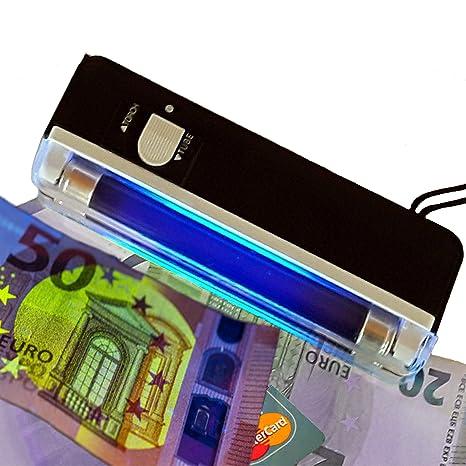 Móvil – Detector de billetes falsos UV Mini Plus con repisa de 4 W y Lámpara