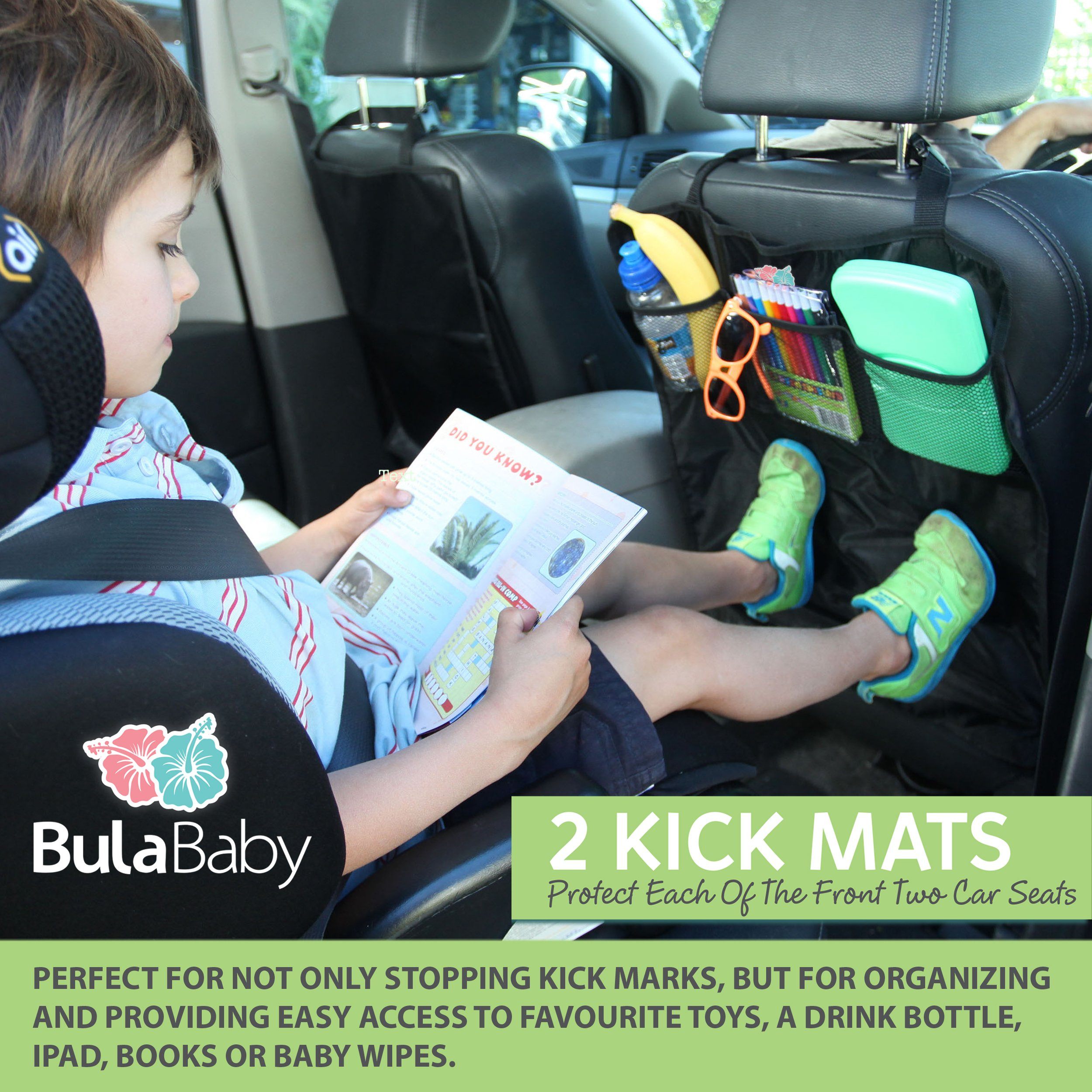 Bula Baby - Back of Seat Protector - 2 Count - Complete With Pocket Organizer by Bula Baby (Image #6)