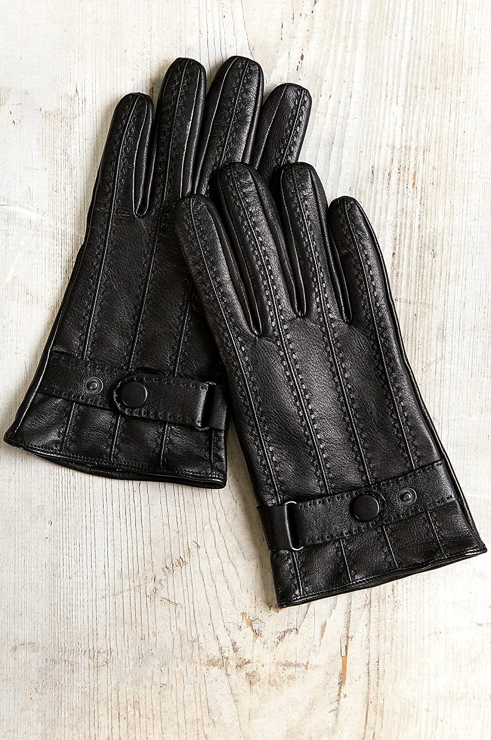 Mens Balsam Cashmere-Lined Lambskin Leather Gloves