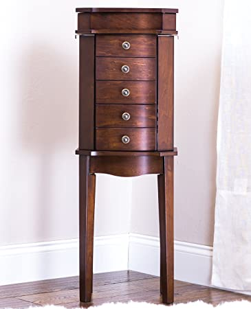 Amazoncom Hives and Honey ERIN Jewelry Armoire Walnut Kitchen