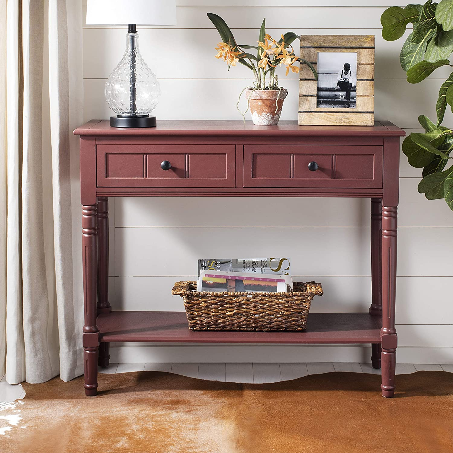 Safavieh American Homes Collection Samantha Red 2-Drawer Console Table