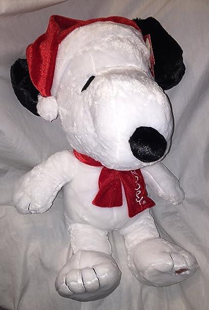 Amazon Com Peanuts Large 21 Plush Musical Christmas Snoopy Wearing