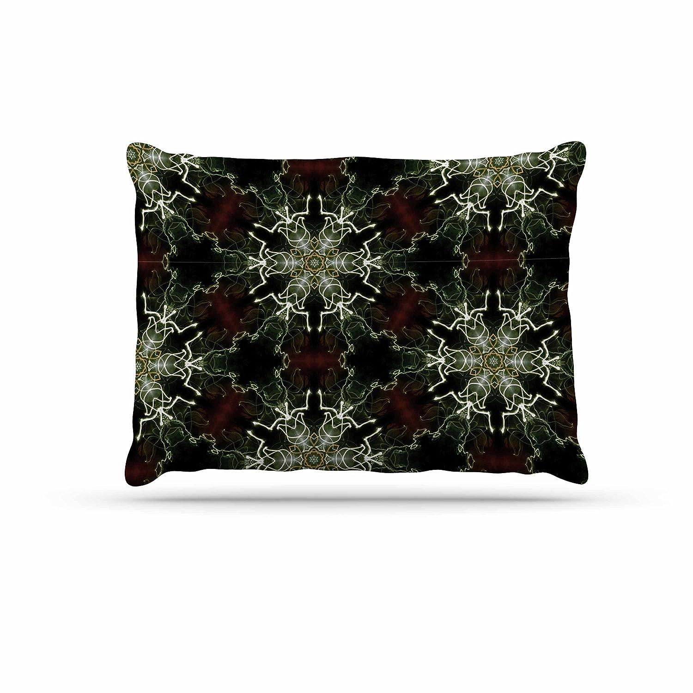 KESS InHouse Gukuuki Mandala Lights Black Abstract Dog Bed, 30  x 40