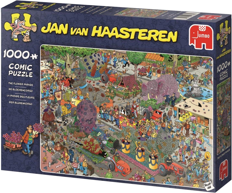 Jan Van Haasteren Flower Parade 1000 pcs Puzzle - Rompecabezas (Puzzle Rompecabezas, Comics, Adultos, Niño/niña, 12 año(s), Cartón): Amazon.es: Juguetes y juegos