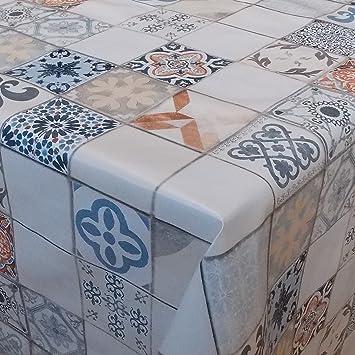 Möbel & Wohnaccessoires Wachstuch Mexico Karos Eckig 125x30 cm · Länge wählbar· abwaschbare Tischdecke Möbel & Wohnaccessoires