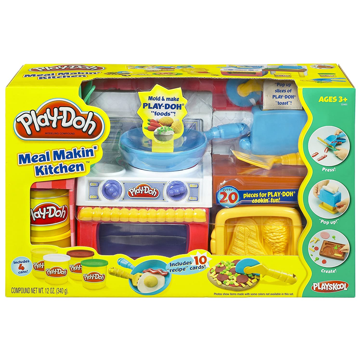 Amazon Com Hasbro Play Doh Meal Makin Kitchen Toys Games