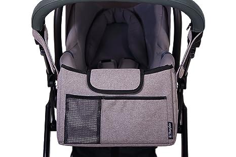 honeycare Carrito organizador/bolsa gris gris: Amazon.es: Bebé