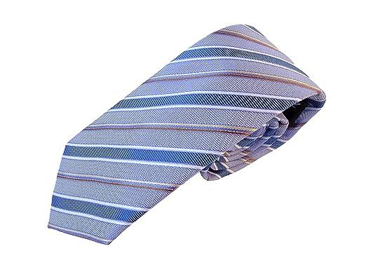 Corbata azul - corbatas de hombre verde rayas azul - 100% seda ...