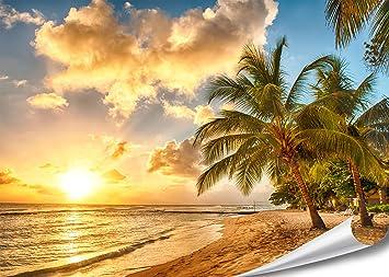 Pmp 4life décoration murale plage dans la barbade coucher de soleil