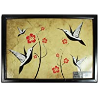 Royle Home Adult Wooden Beanbag Lap Tray Mealtime Laptop TV Dinner - Birds by Royle