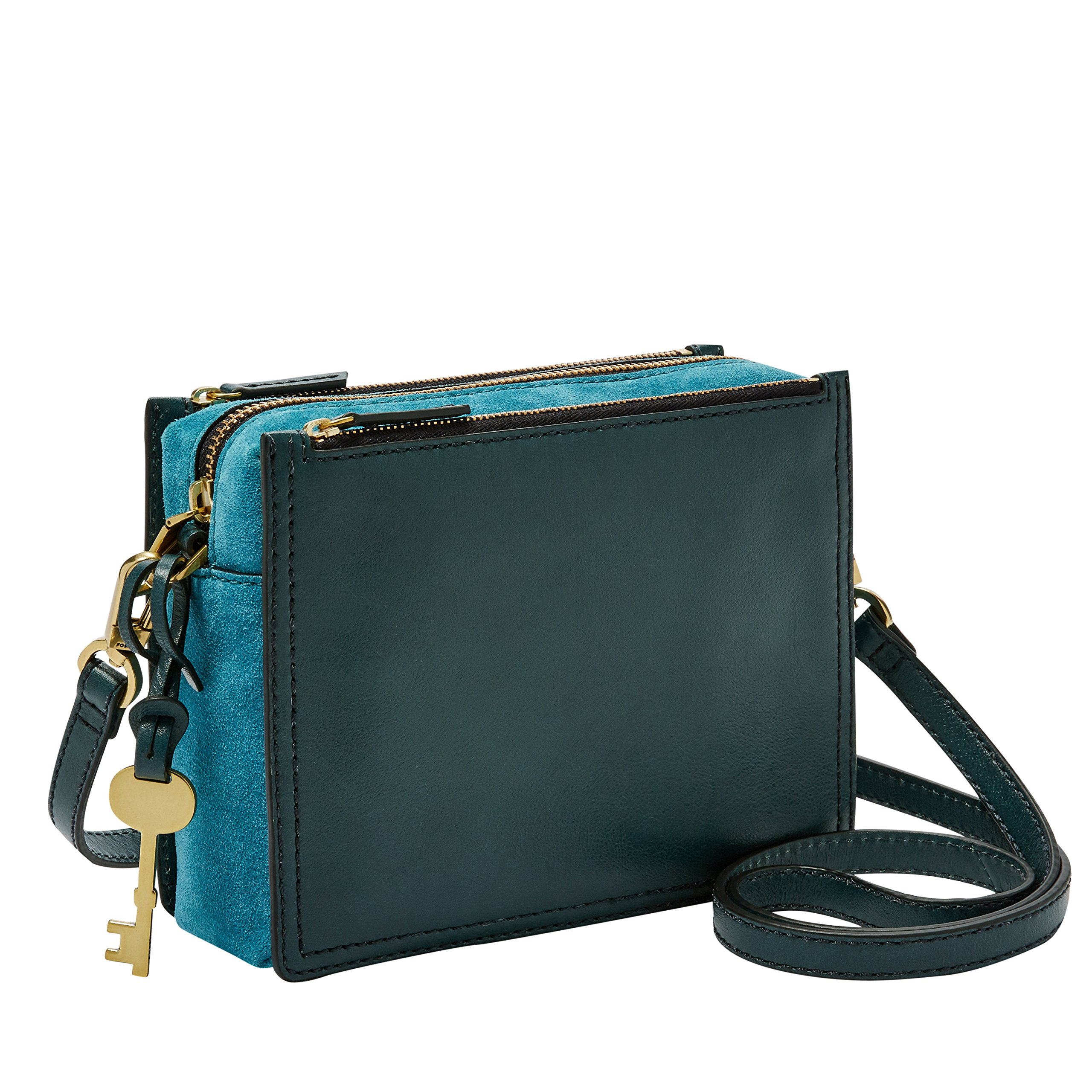 Fossil Campbell Crossbody Bag, indian teal