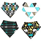 Baby Bandana Drool Bibs for Drooling and Teething (2017 Fall/Winter Collection) 4 Pack Gift Set by elifant baby