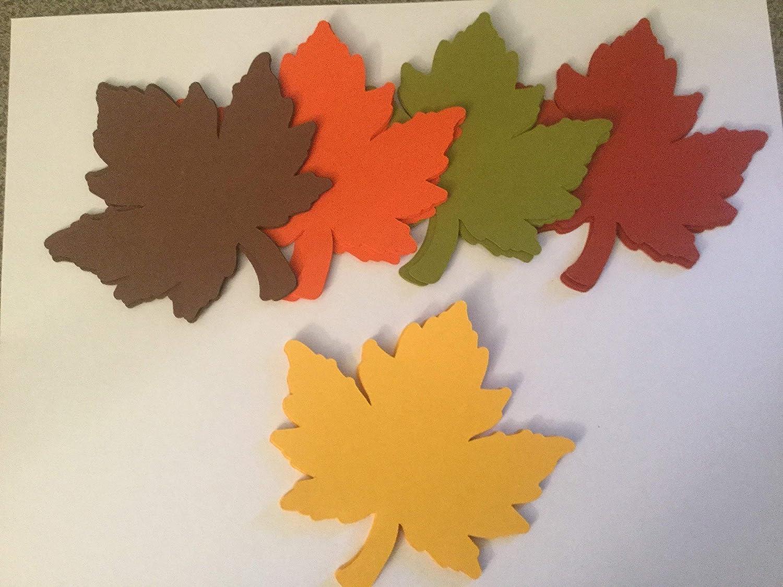 - Amazon.com: 25 Large Fall Leaves Die Cuts, 4 Inch Leaf Cutout