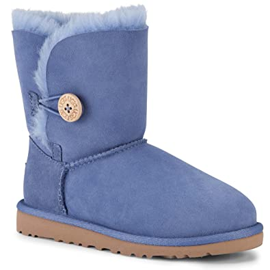 UGG Australia Infants\u0027 Bailey Button Toddler Suede Boots,Estate Blue,US 9  Child