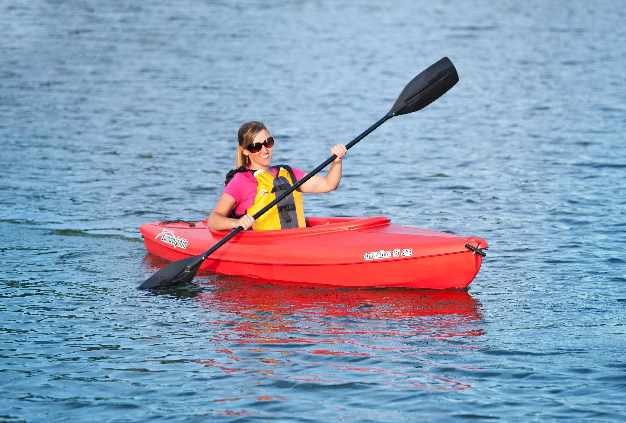 SUNDOLPHIN Sun Dolphin Aruba SS Sit-in Kayak (Red, 8-Feet) by SUNDOLPHIN (Image #4)