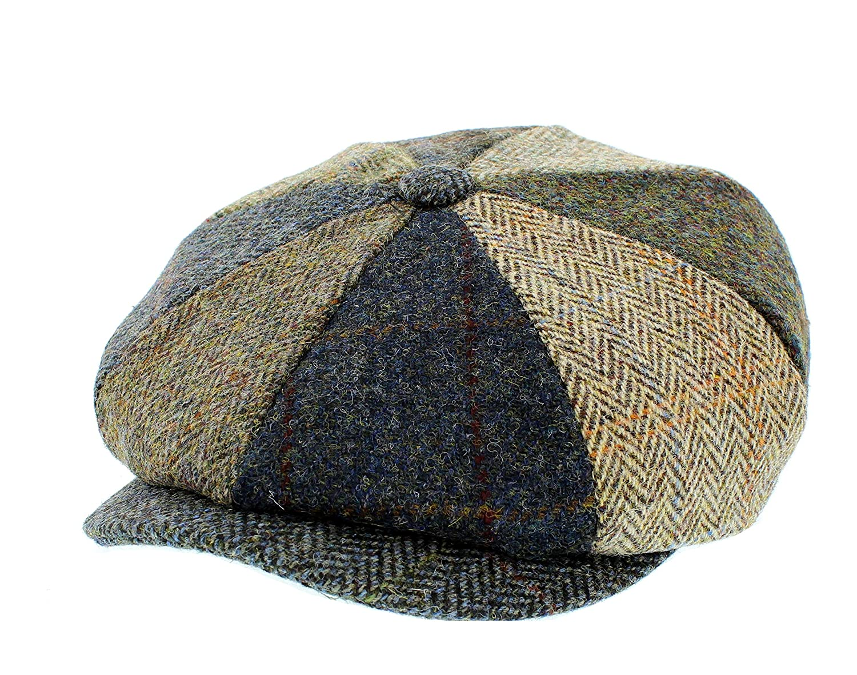Failsworth Lewis Bakerboy Patchwork Tweed Cap