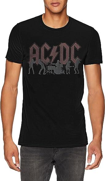 AC/DC Silhouettes Camiseta para Hombre: Amazon.es: Ropa y accesorios