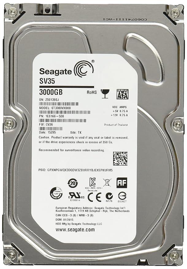 Seagate 3TB SATA SV35 Series Hard Drive For video Surveillance [ST3000VX000] SATA at amazon