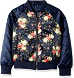 Limited Too Girls' Too Bomber W/Allover Print & Quilted Sleeves