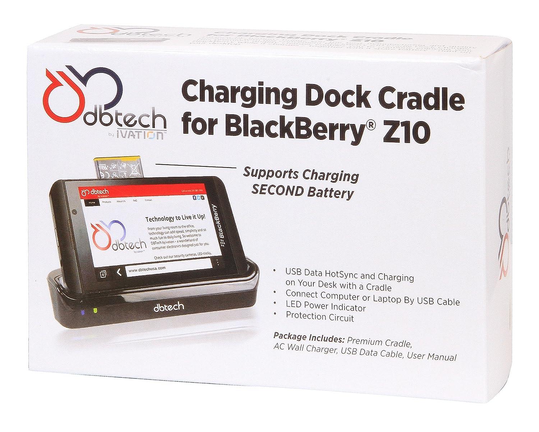 d72ff807438 DB Tech estación de sobremesa Pod duales Cargador para el BLACKBERRY  completamente Nueva 10 Blackberry Z10 con seguridad especial para su  batería de ...