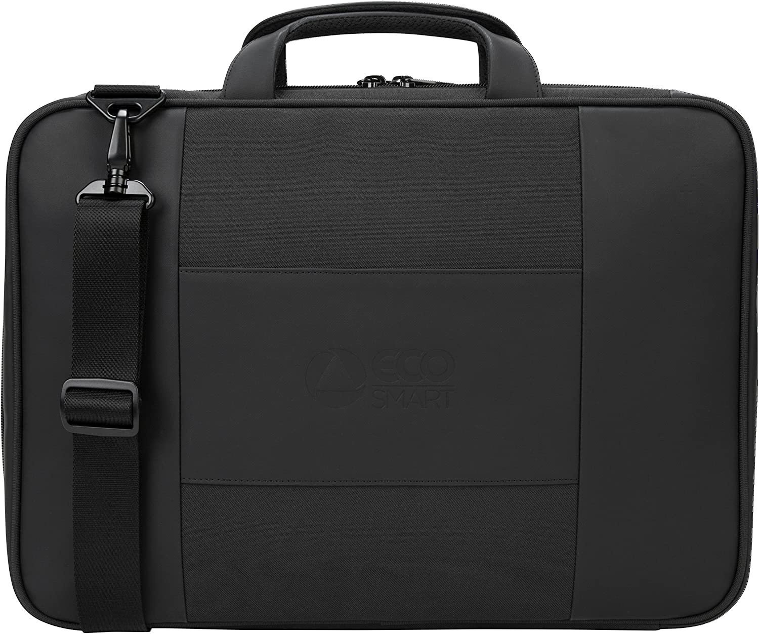 Targus Balance EcoSmart Briefcase Made from Recycled Weather Resistant & PVC-Free Material for Professional Commuter, Checkpoint-Friendly, Suspension Protection fits 15.6-Inch Laptop, Black (TBT918US)