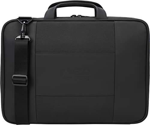 Targus Balance EcoSmart Briefcase Made from Recycled Weather Resistant PVC-Free Material for Professional Commuter, Checkpoint-Friendly, Suspension Protection fits 15.6-Inch Laptop, Black TBT918US