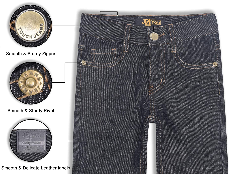 Designer Boys Jeans Adjustable Waist Trousers Black Blue Denim Wash Age 2 3 4 5 6 7 8 9 10 11 12 13 14 15 16 Years Justfound4You
