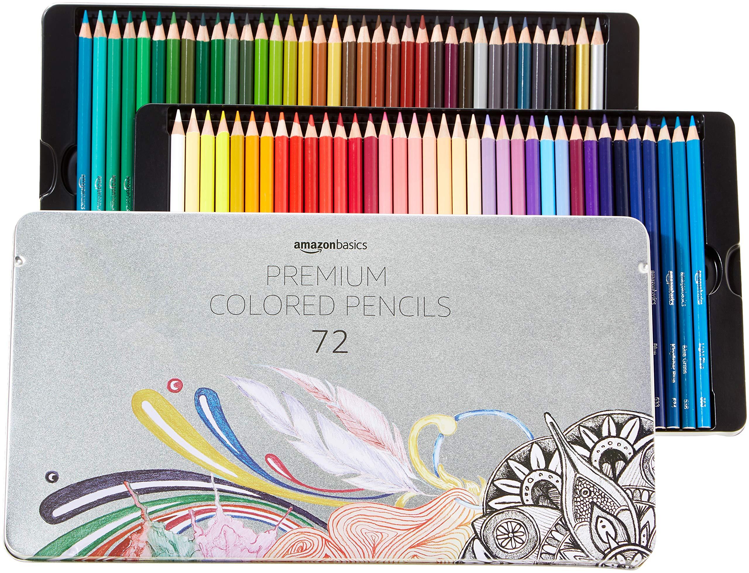 AmazonBasics Colored Pencils - 72-Count Set by AmazonBasics