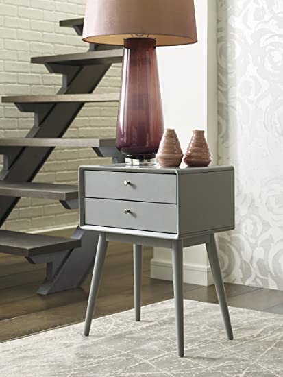 Delicieux Elle Decor Rory Two Drawer Side Table, French Gray