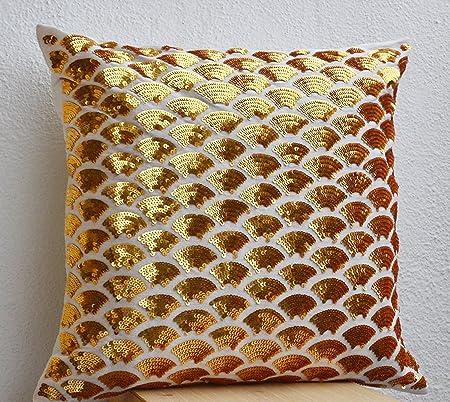 Cuscini Color Oro.Amore Beaute Handmade Cuscino Decorativo Covers Con Dettagli Oro