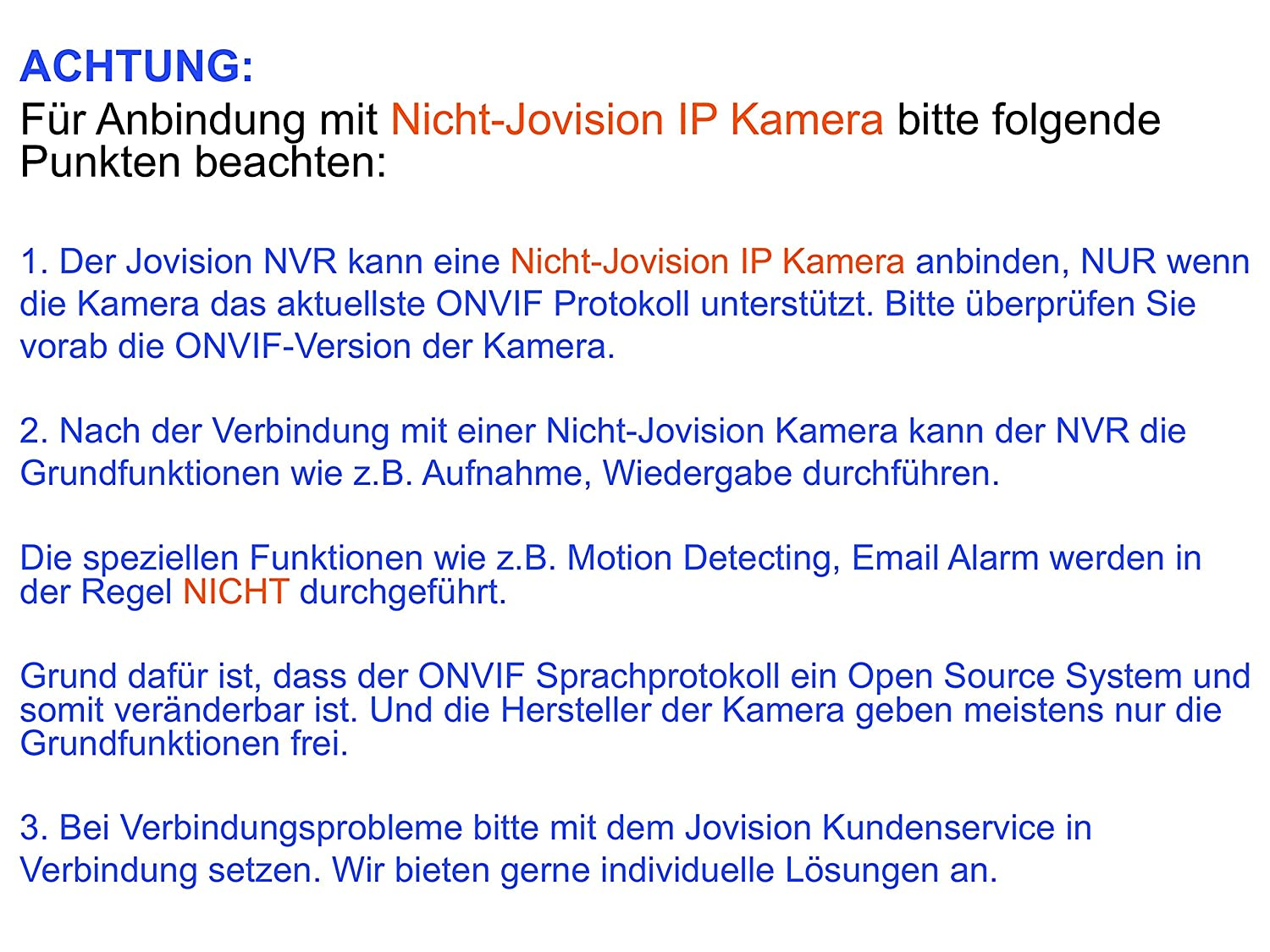 Jovision 8 Kanal NVR, Netzwerk Video Rekorder, ONVIF: Amazon.de ...