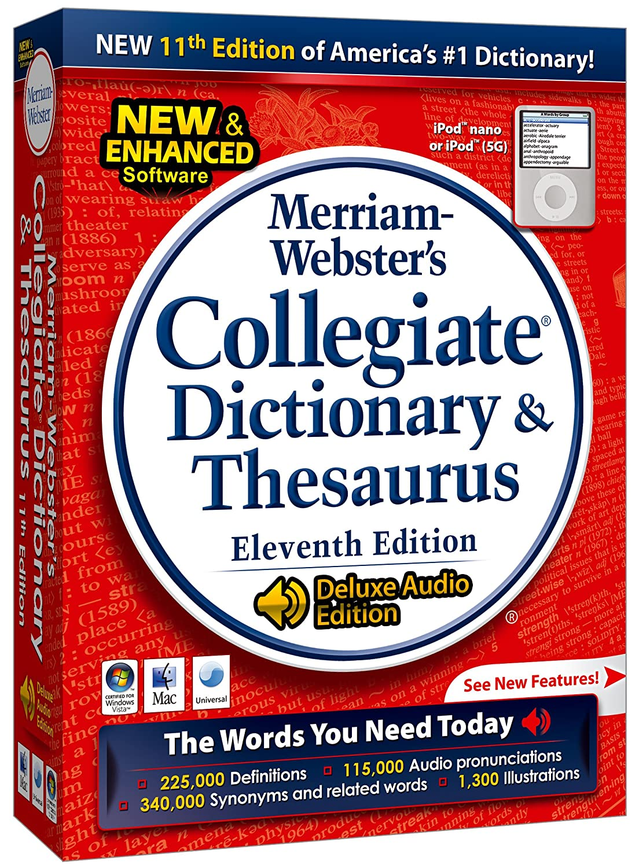 Amazon.com: Merriam-Webster's Collegiate Dictionary & Thesaurus 11th  edition: Software
