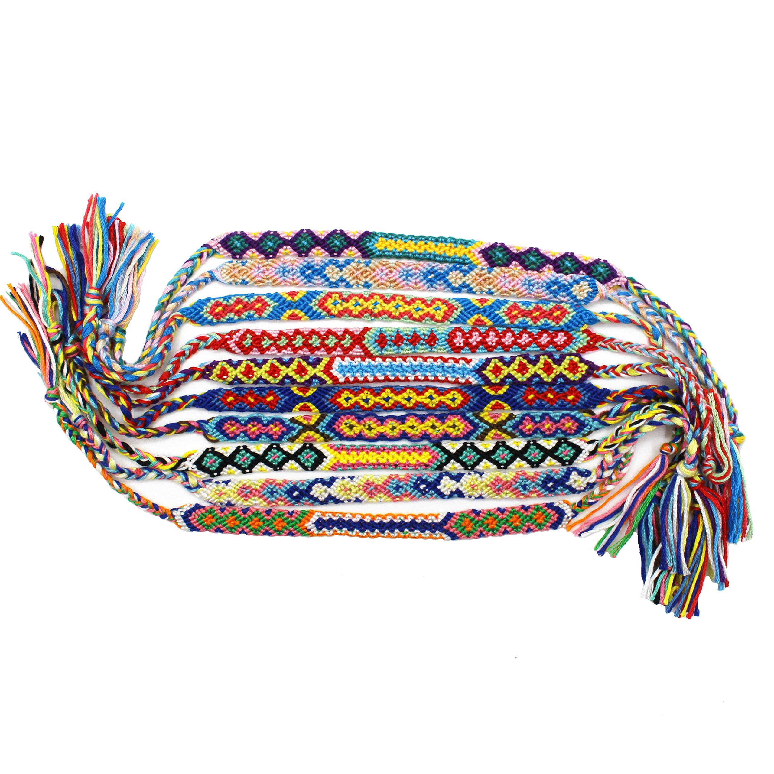SYGZQ Woven Friendship Bracelet Gifts Thread for Hair Ponytail-10 pack